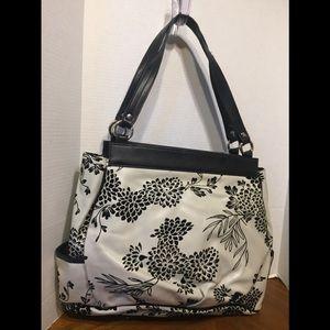Miche's Hobo Bag w Shell White w Black Flowers